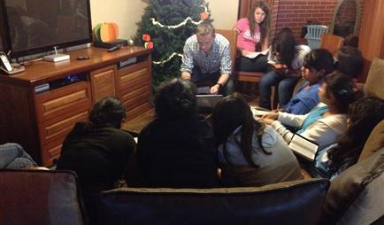 Bible studies in our home in Guatemala