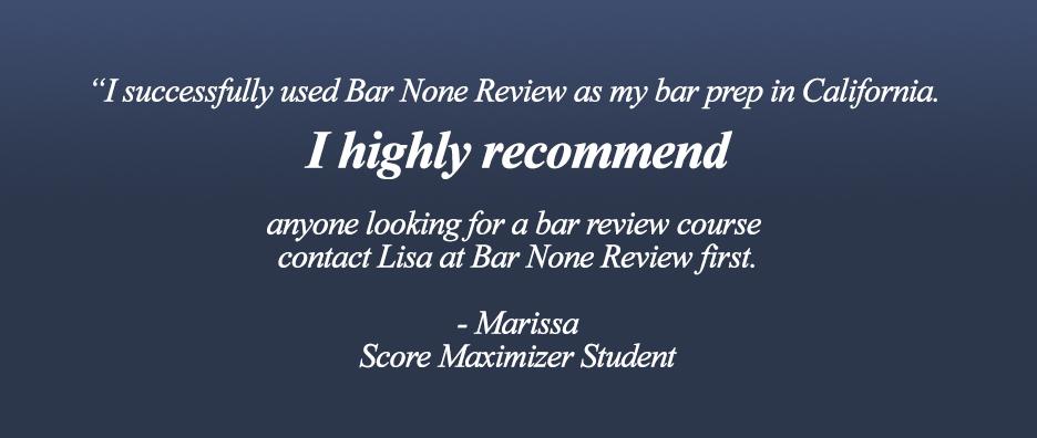 Bar None Review - California Bar Exam Prep, Bar Exam Cram