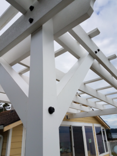 Azek Trimboards used for a pergola