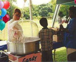 Cotton Candy Concession at a Company Picnic. Concessions for corporate events.