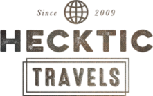 text logo link to hecktic travels blog