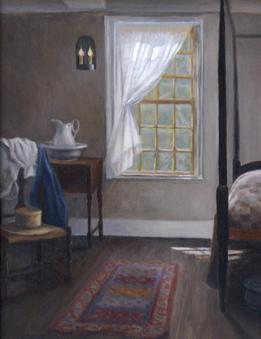 colonial interior, historic home, window light