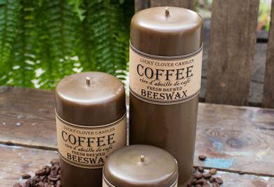 Coffee Beeswax Candles
