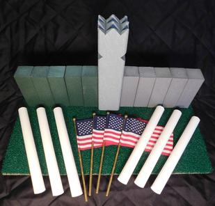 www.kubb.games plastic colorful kubb sets made in the USA - Swedish game - viking game - fun game - new game - plastic kubb - wood kubb - Classic Plastic Kubb - green gray