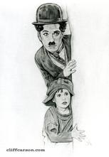 THE KID Charlie Chaplin by CLIFF CARSON