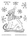 Free winter coloring activity from children's book Giddy-Up Fairytale Cowgirl by Kat Ford