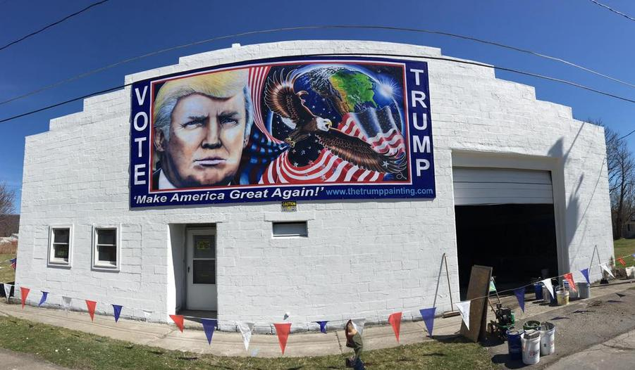 Trump Portrait Studio in Elmira New York where The Trump Painting was painted