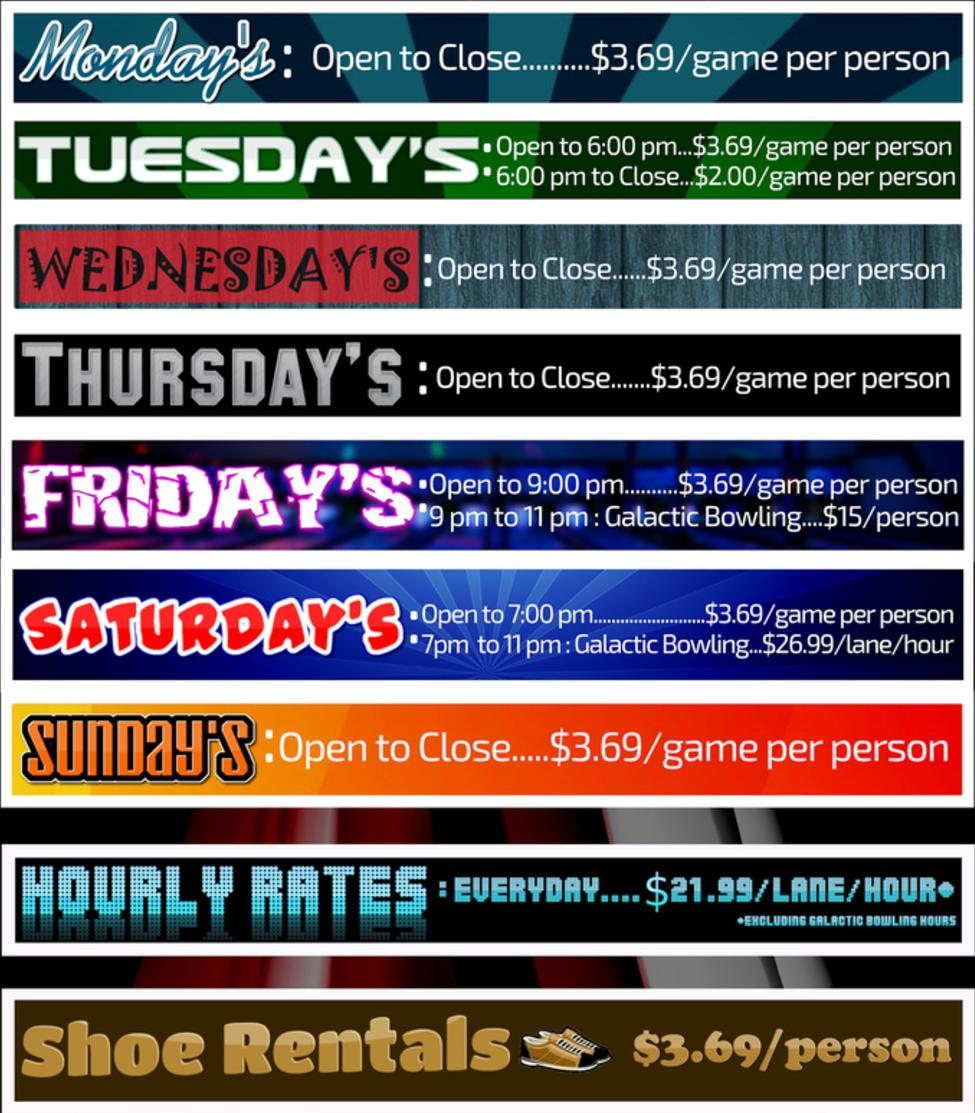Daily Bowling Prices