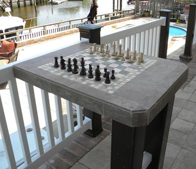 How to make a DIY easy Outdoor Ceramic Tile Chess Table. www.DIYeasycrafts.com