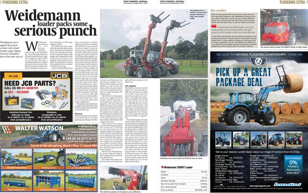 The Irish Farmers Journal Review the new Weidemann 122HP 5080T