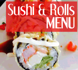 Ahi Sushi Sush and Rolls Menu