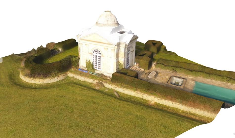 "3D Model of Tyringham ""Temple"""
