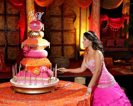 Arabian Nights cake pastel quinces quinceanera quince miami party