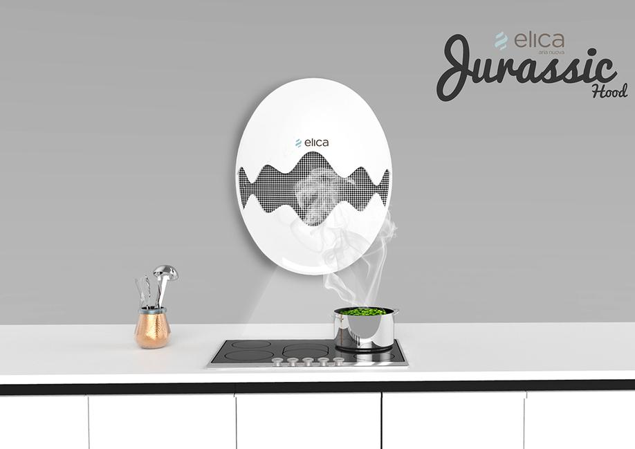 JURASSIC HOOD CONTEST FOR ELICA CAPPA DA CUCINA DESIGN PROJECT DESIGN107