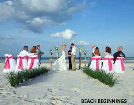 Beach Beginnings Wedding Package in St. Augustine or Jacksonville Beach