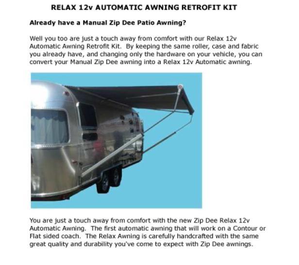 Relax 12v Automati Awning Retrofit