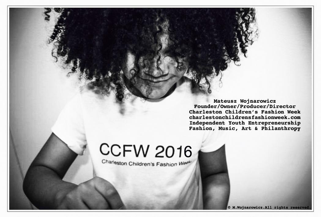 Mateusz Wojnarowicz, 10 lat, Polish Multiracial US-Poland Dual Citizen Founder, Owner, Producer & Director of Charleston Children's Fashion Week Launches CCFW 2016 on January 1st 2016.