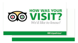 Eurada Print has CUSTOM Trip Advisor Cards as well as our SELF Created Google REVIEW cards