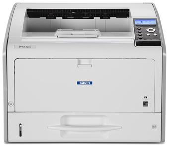 "Ricoh/Savin SP 6430DN 11"" x 17"" capable black and white printer, affordable, fast, business-class, consistent, 38 page per minute print speeds, 1200 by 1200 dpi print resolution, mobile printing, smartphone and tablet printing, low price, budget friendly, small office, small workgroup device sold by Cedar Rapids Photo Copy, Inc. (CRPC, Inc.) in Cedar Rapids, Iowa. Eastern Iowa/Corridor area's leader in office printing technology and general office technology since 1965."