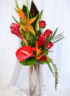 Exotic Bouquet with Bird of Paradise and Ginger Lily | The Little Flowershop Florist