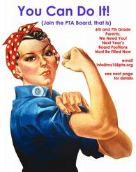 Join the MS 158 PTA Board