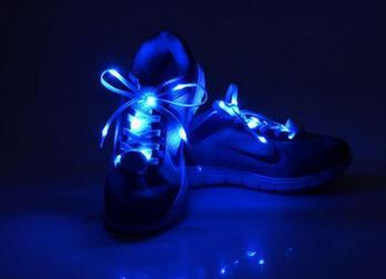 Glowing shoe laces