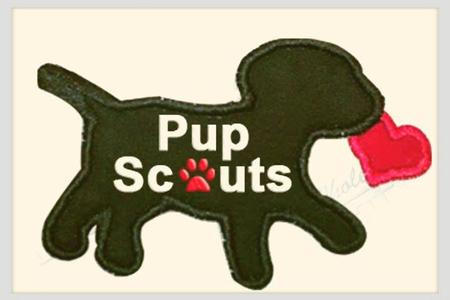 pupscouts Valentine Love Badge