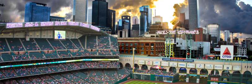 Downtown Houston, Minute Maid Park, (Photo: Andrew Yousse)
