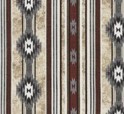 Cream Native American Blanket Stripe Cabin Rules