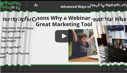 Webinar marketing is simply promoting your products to potential customers over the internet.