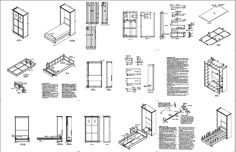 Mission Twin Vertical Wall Bed Plans