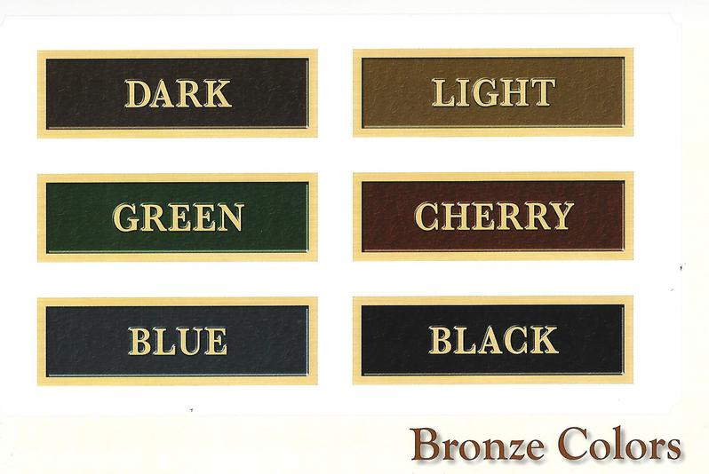 Bronze memorial colors