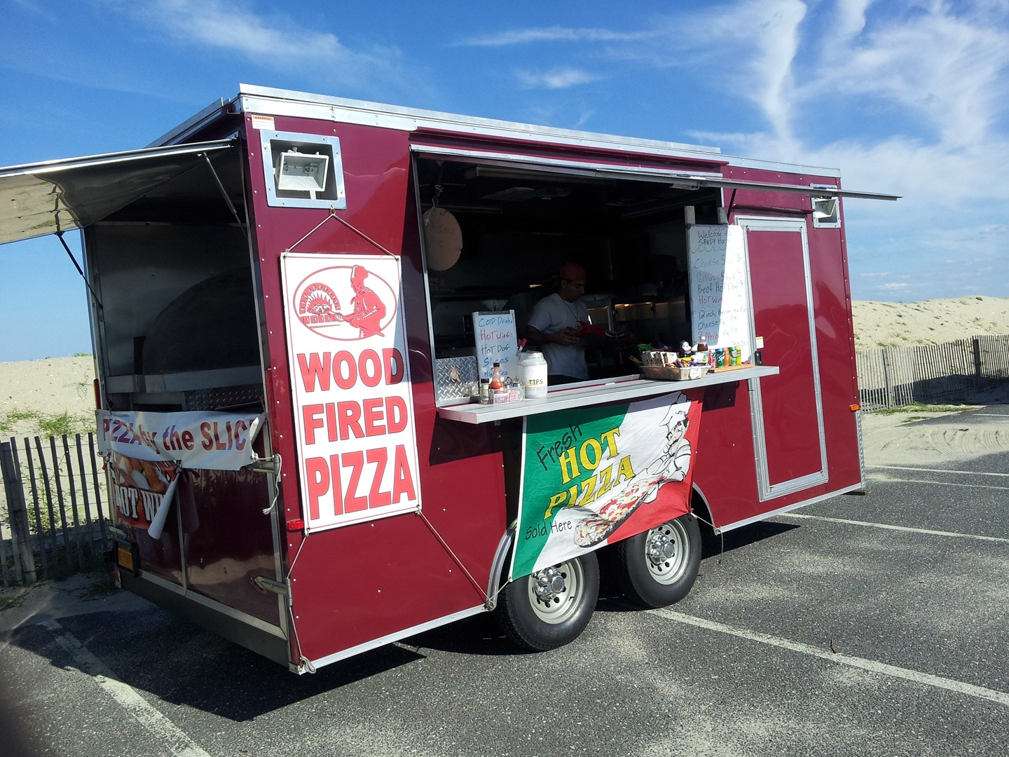 wood pizza catering NYC
