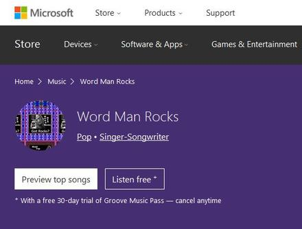 Word Man Rocks - Microsoft Store