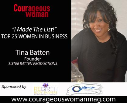 Courageous Woman Magazine with Sister Tina Batten