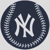 Cross Stitch Chart pattern of the New York Yankees