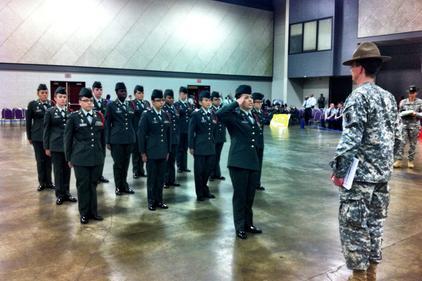 Army JROTC Unarmed Drill Team?