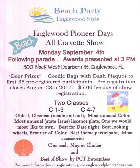 All Corvette Car Show - Englewood car show