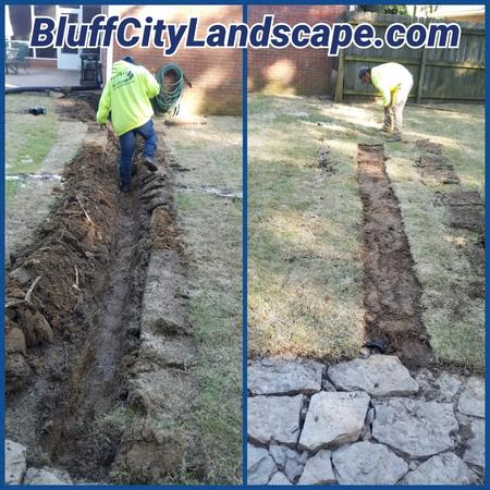Gutter Down Spout Drainage Pipe Installation Germantown TN