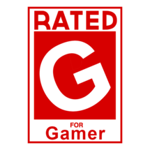 Rated G For Gamer Custom Sticker