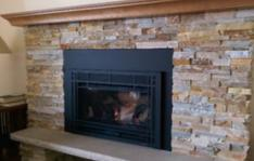 Fireplace that just had chimney cleaning in Burnsville, MN