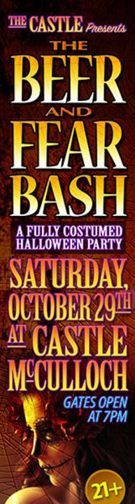 Beer & Fear Bash Oct 29th 7PM-2AM