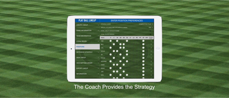 Play Ball Lineup - Youth Baseball And Softball Lineup Making App