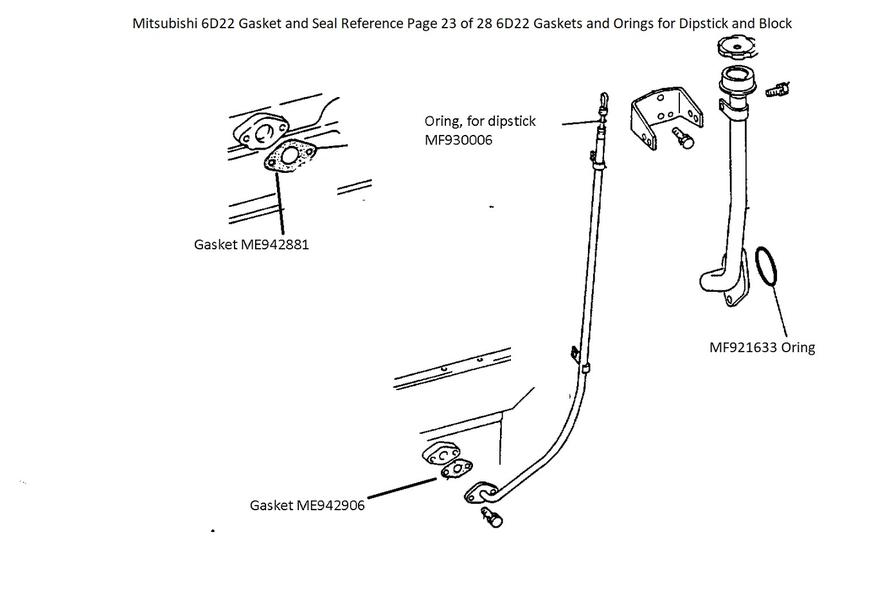 Mitsubishi 6D22 Gasket and Seal Reference Page 23 of 28