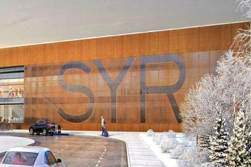 Syracuse International Airport Weathering Steel Facade by Dissimilar Metal Design