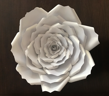 White Paper Roses for BabyShowers and Weddings by LaDi with a BaBy