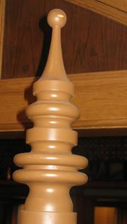 Custom wood turned Finial