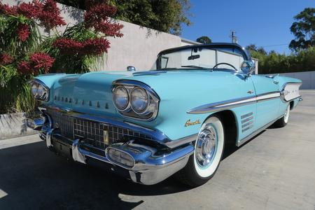 1958 Pontiac Bonneville Tri-Power Convertible for sale at motor car company in San Diego