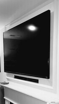 Mounting Flat Screen Tv Covering Old Fireplace Niche