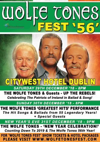 BOOK NOW FOR WOLFE TONES FEST!